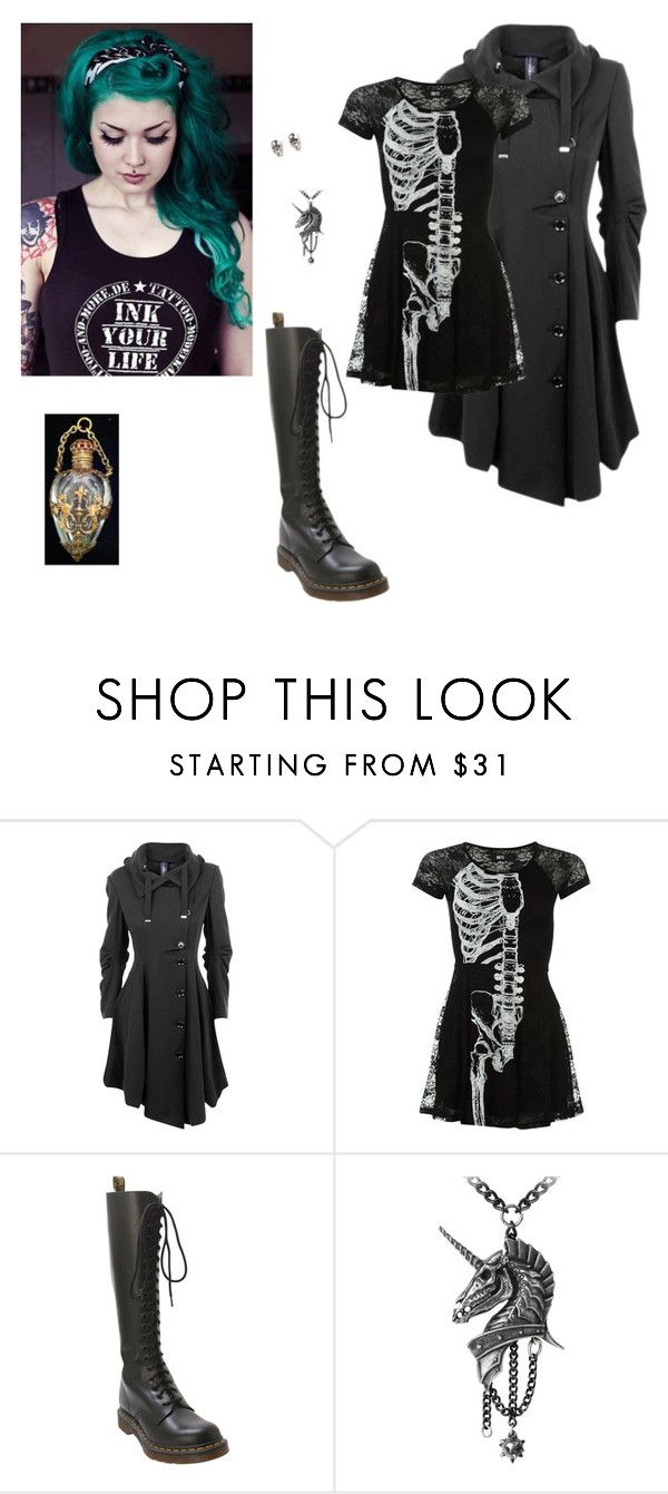 *looks at the vial of poison* I was such a fool... ~ Lyra by oxwhatsernamexo on Polyvore featuring HIGH, Dr. Martens and LeiVanKash