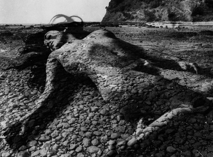 Untitled (from the series The Tide Recedes) 1971 selenium toned gelatin silver print   by Sue Ford (1943-2009) - an Australian born photographer, film maker, and photomedia artist