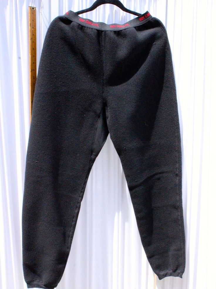 Hot Chillys Child XL Fleece Black Ski Base Layer Long Underwear Pants #HotChillys #FleecePants #Everyday