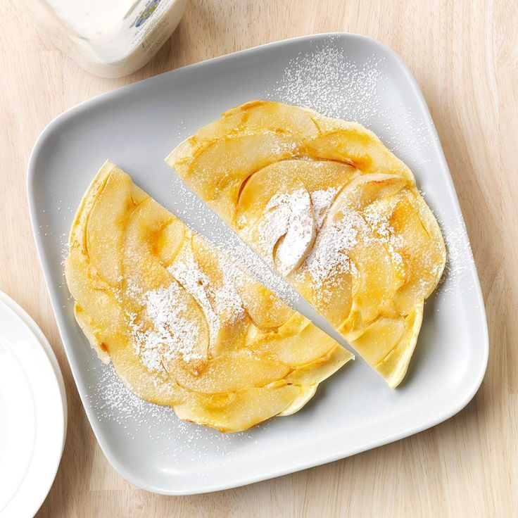 Upside-Down Pear Pancake Recipe -There's a pear tree in my yard that inspires me…