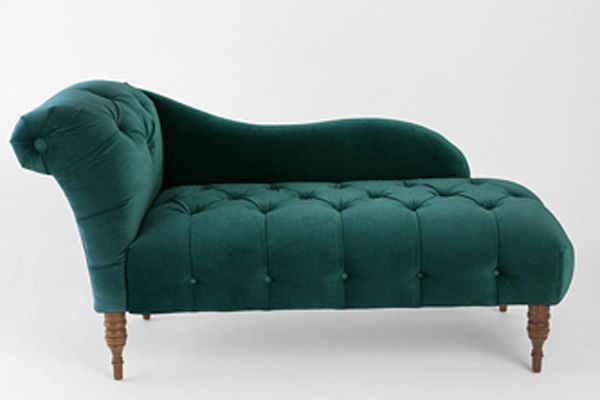 Fall Home - Urban Outfitters Edie Velvet Chaise - Dark Green, $649, available at Urban Outfitters.