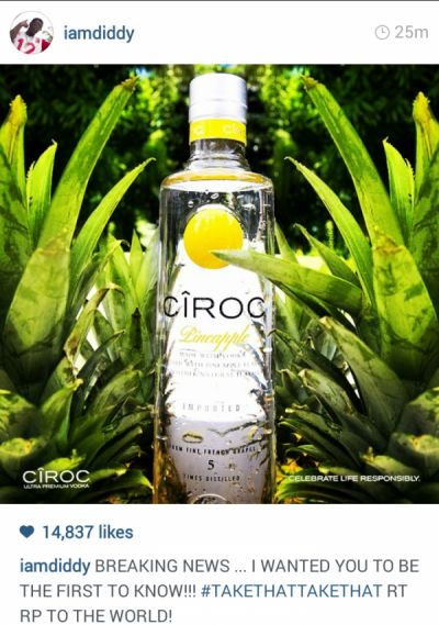 Diddy Announces New Ciroc Flavor.