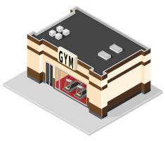 Isometric GYM Building