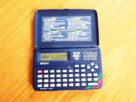 Seiko ER3000 Oxford Crossword Solver can be used as Word Games (e.g. Jumble)