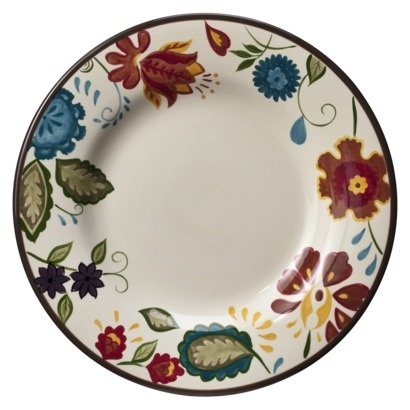 """Purchased four of these in the dinner plate size  Threshold™ Vine Floral Dinner Plate Set of 4 - 11.5 """""""