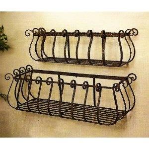 Unique Wall Basket for Storage: Sea Grass, Wicker, Wire, Woven, Willow lid, Iron decorative