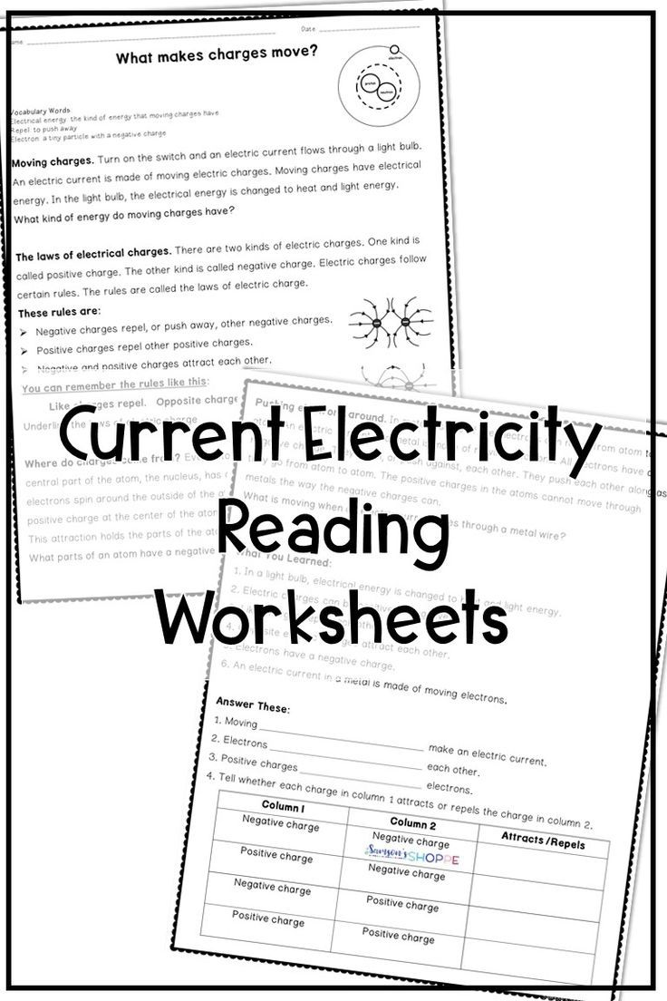 hight resolution of Electricity Reading Activity   Physical science