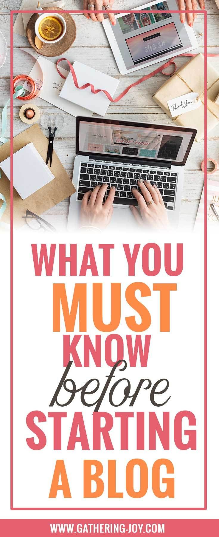 Starting a blog? Make sure you know these 6 things before you start!