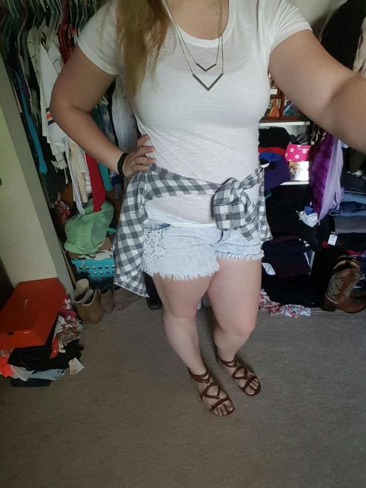 Shirt, shorts, and shoes: Target Flannel: Hollister Necklace: H&M