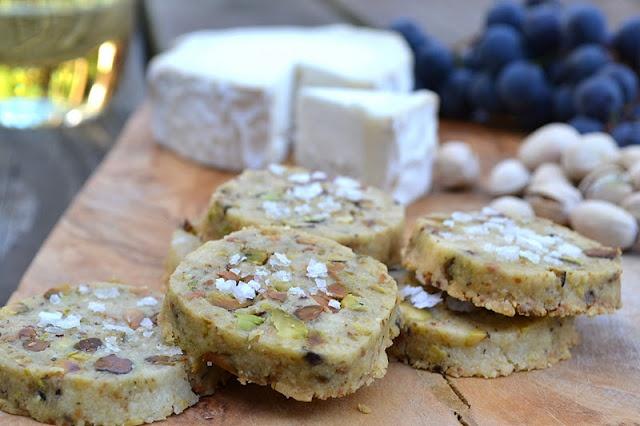 savory roasted pistachio and sea salt shortbread
