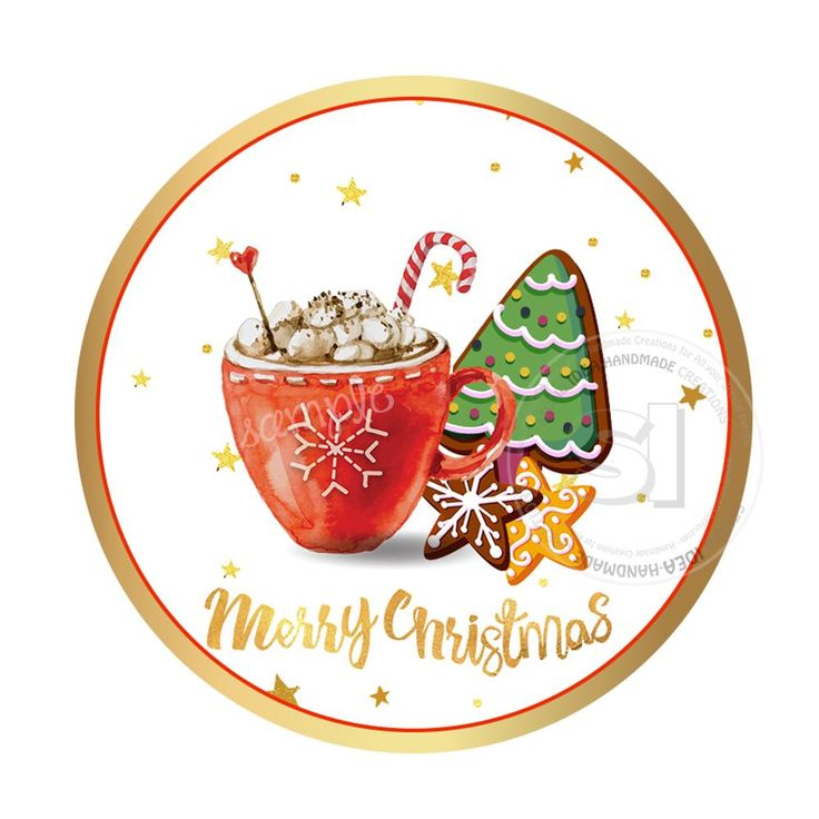 """INSTANT DOWNLOAD- Christmas Wishes Printable 2.5"""" Tag-Merry Christmas  2.5 inches Circle Tags DIY Favor Tags-Stickers"""