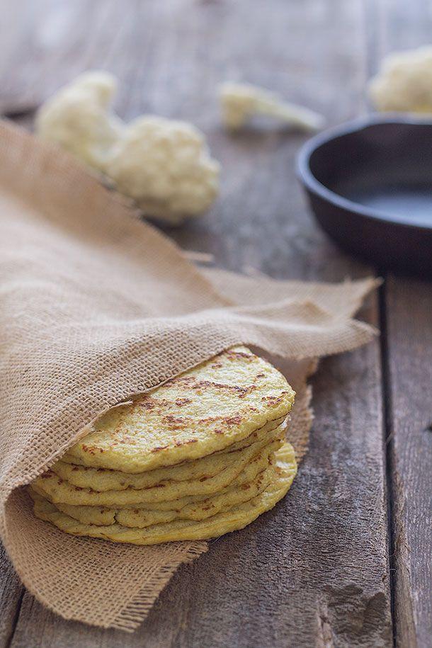 Cauliflower Tortillas (Paleo, Grain free, Gluten free)