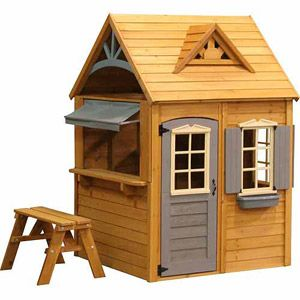 17 best images about kids playhouses on pinterest for Wooden playhouse with garage
