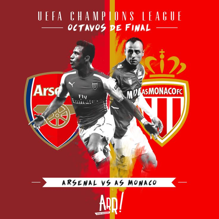 UEFA Champions League Round of 16 - Arsenal vs AS Monaco by Nesta http://nestarr.tumblr.com/ #ChampionsLeague #Arsenal #ASMonaco #AlexisSanchez #Berbatov #Futbol #Soccer