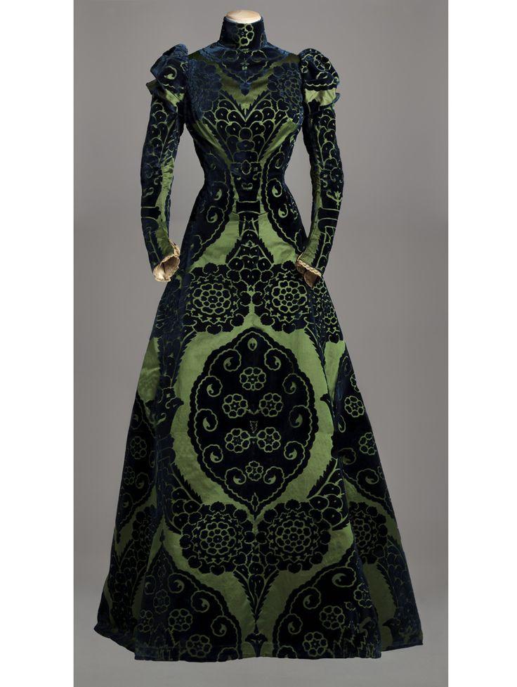 Worth, circa 1895. 'Old-school' dresses were grand.