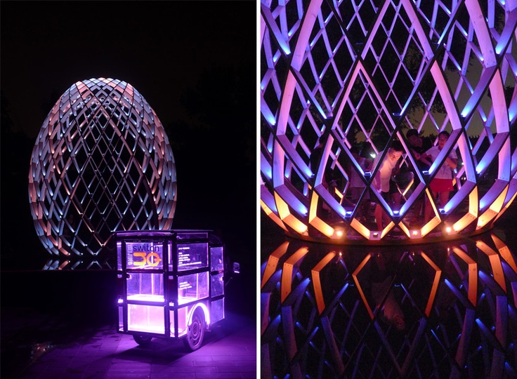 Ovo installation by odeaubois act lighting design
