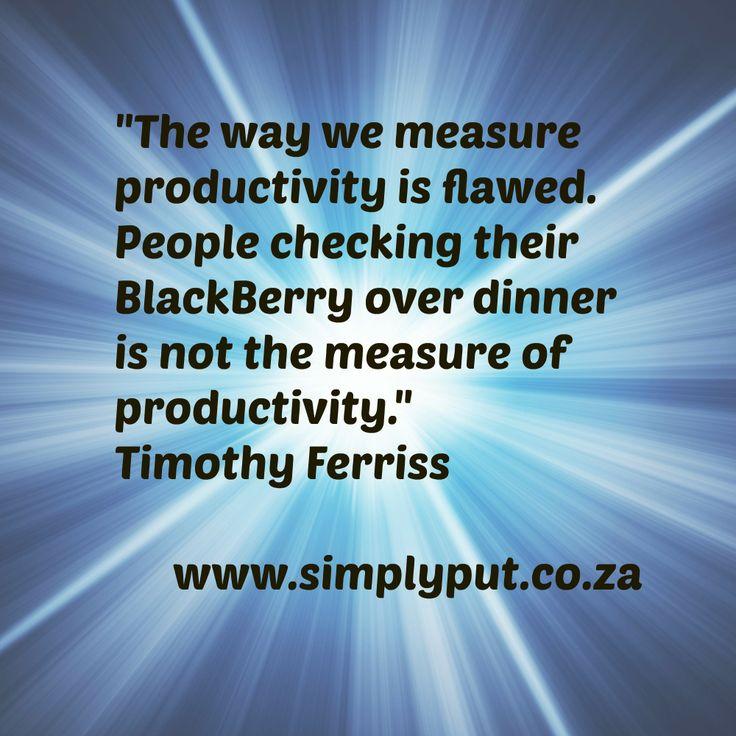 What's your productivity gauge?