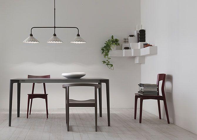 Fiori di pizzo | Lampade a sospensione, applique, plafoniere, lampade da tavolo da interno in ottone e ceramica