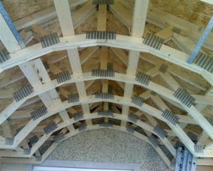Fforest Timber Engineering Ltd :: Curved Roof Truss Design - Swansea - Barrel vaulted roof truss