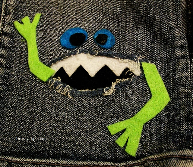 Monster patch for boy's jeans