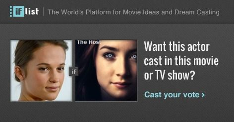 Alicia Vikander as Melanie Stryder / Wanderer in The Host? Support this movie proposal or make your own on The IF List.