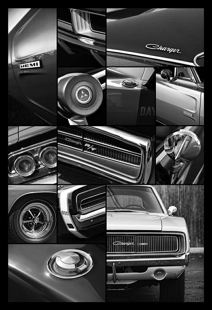 1968 1969 1970 Dodge Charger Collage By Gordon Dean Ii