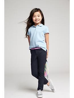 Girls Uniform Skinny Pants | Old Navy