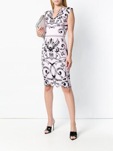 0d1bb625881 Versace Vestido Jacquard  Baroque  - Farfetch