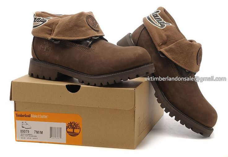 Men's Timberland Roll Top Boots Waterproof Brown $ 81.00