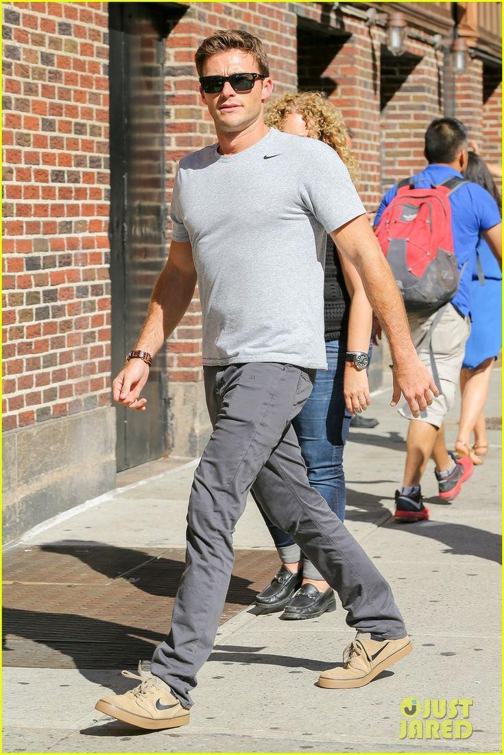 Scott Eastwood Makes the 'Suicide Squad' Promo Rounds | scott eastwood stephen colbert suicide squad 03 - Photo