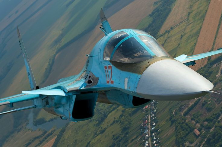 Sukhoi Su-34 Fullback Heavy Strike Fighter up close.