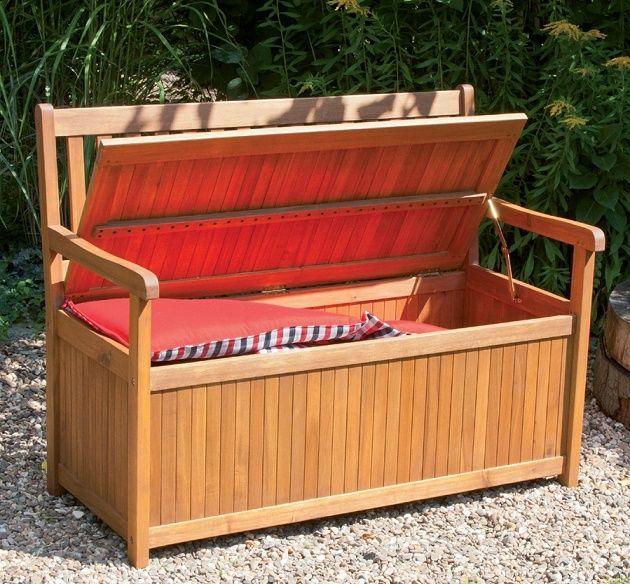 Gartenbank Mit Kissenbox Weiss Holz Einzigartige Und Leistungsstarke Bequem Kissenbox Gartenbank Mit Truhe Gartenbank