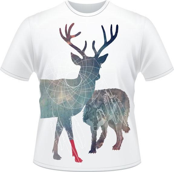 Le chevreuil - Don de Rouge, T-shirts pour la cause du 24h de Tremblant - 25$