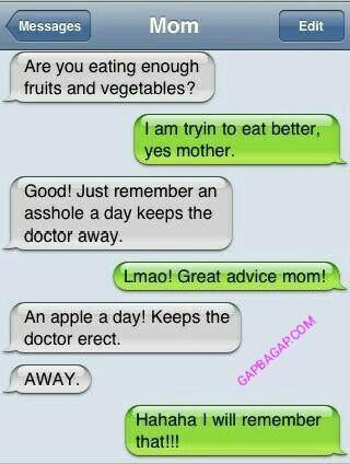 Funny Text About Mom vs. Doctor