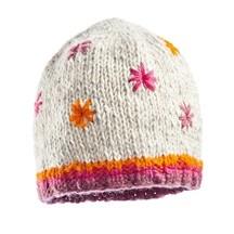 Bonnet népalais adulte beige étoiles