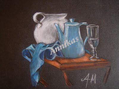 Colored pencil on black  background...           Aννίκας... δια χειρός: Ζωγραφική  με μολύβι (16)