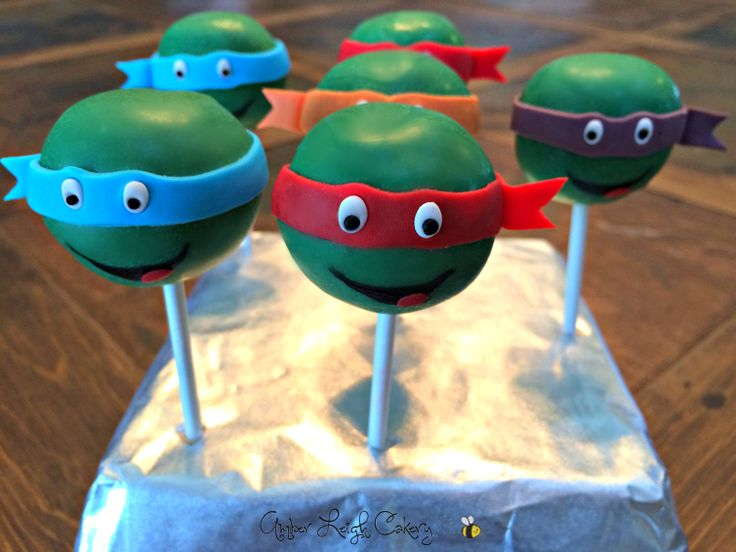 Teenage Mutant Ninja Turtle Cake Pops