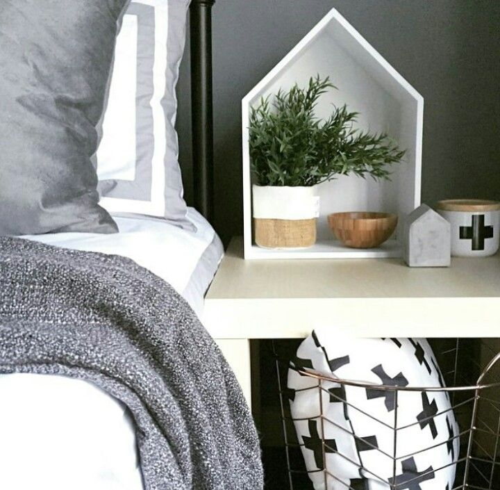 Kmart basket and a hack on the house shelf. Is that the new marble look door stop??