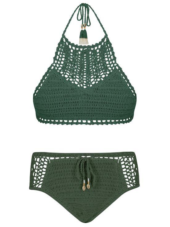 5 Swimwear Trends to Try This Summer | People - green She Made Me crochet bikini