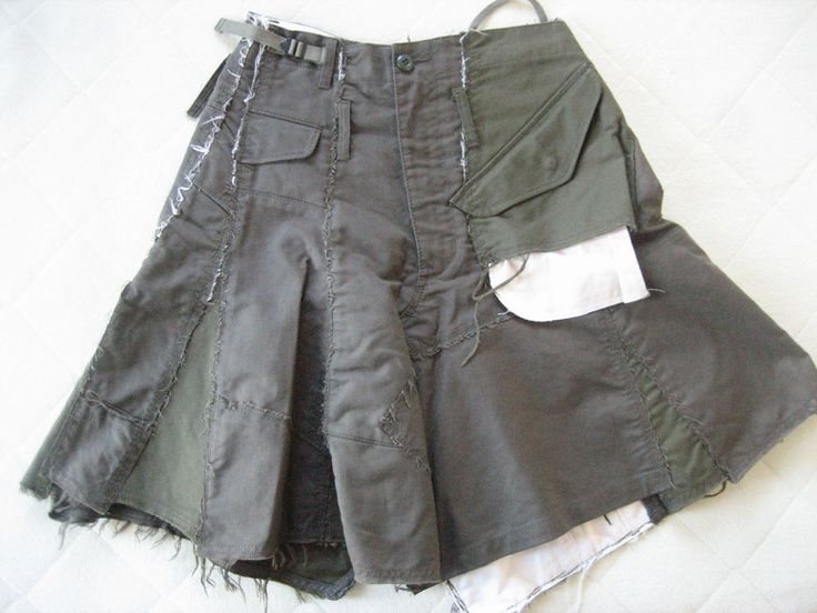 AD2006 Junya Watanabe Comme des Garcons Military Reconstructed Skirt #Commedesgarcons #Asymmetrical