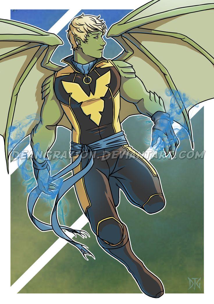 deandraws:  Commission - Hulkling Phoenix mashup by DeanGrayson