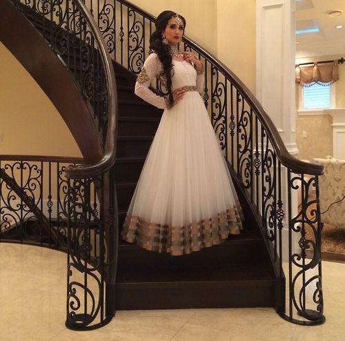 Lovely white lacha, indian fashion