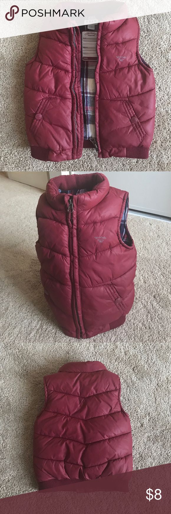 NWOT Cute vest NWOT it was a gift that my baby never used. The size is 6-12 months I think it will fit better someone close to 12 months. Super warm perfect for winter sfera Jackets & Coats Vests