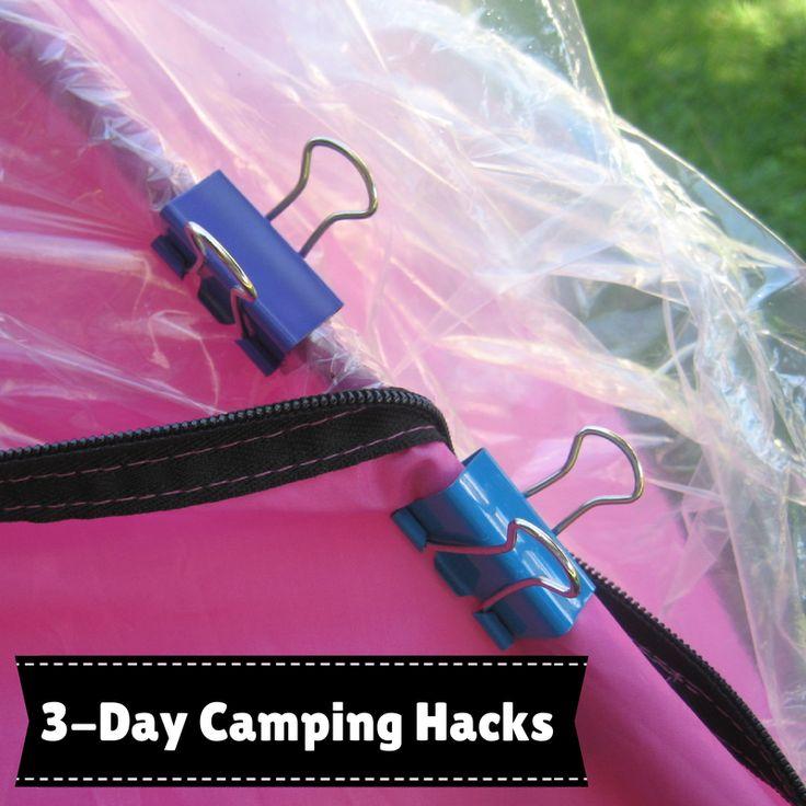 susan g. komen 3-day breast cancer walk blog camping hacks binder clips for tent
