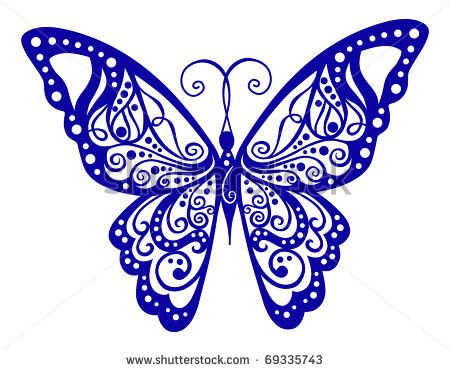 lace butterfly tattoo designs - Google Search