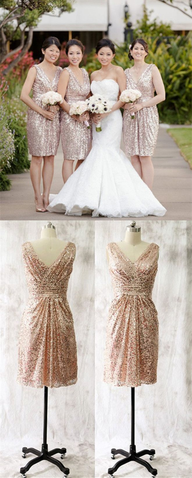 Best 25 rose gold bridesmaid dresses ideas on pinterest rose short bridesmaid dressessequins bridesmaid dressesrose gold bridesmaid dresseswedding party dresses ombrellifo Images
