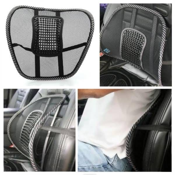 Chair Mesh Seat Back Support Lumbar Cushion Car Office Sitting Position Correcter Worldwide Delivery Original Best Qual Car Chair Car Office Massage Cushions