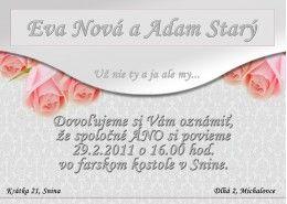 Svadobné oznámenie - SO043