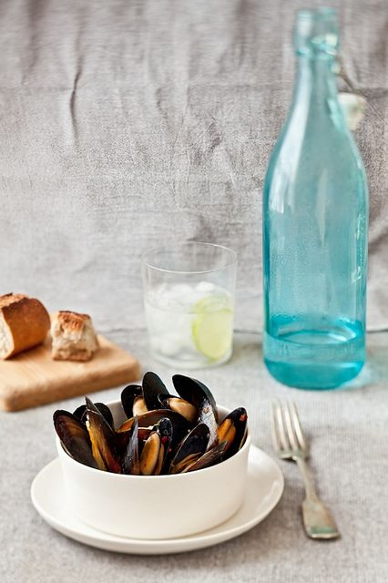 Steamed Mussels With White Wine & Key Limes by tartelette, via Flickr