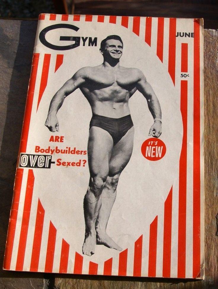 vtg June 1959 GYM MAGAZINE body building posing gay interest BEEFCAKE jock strap   eBay